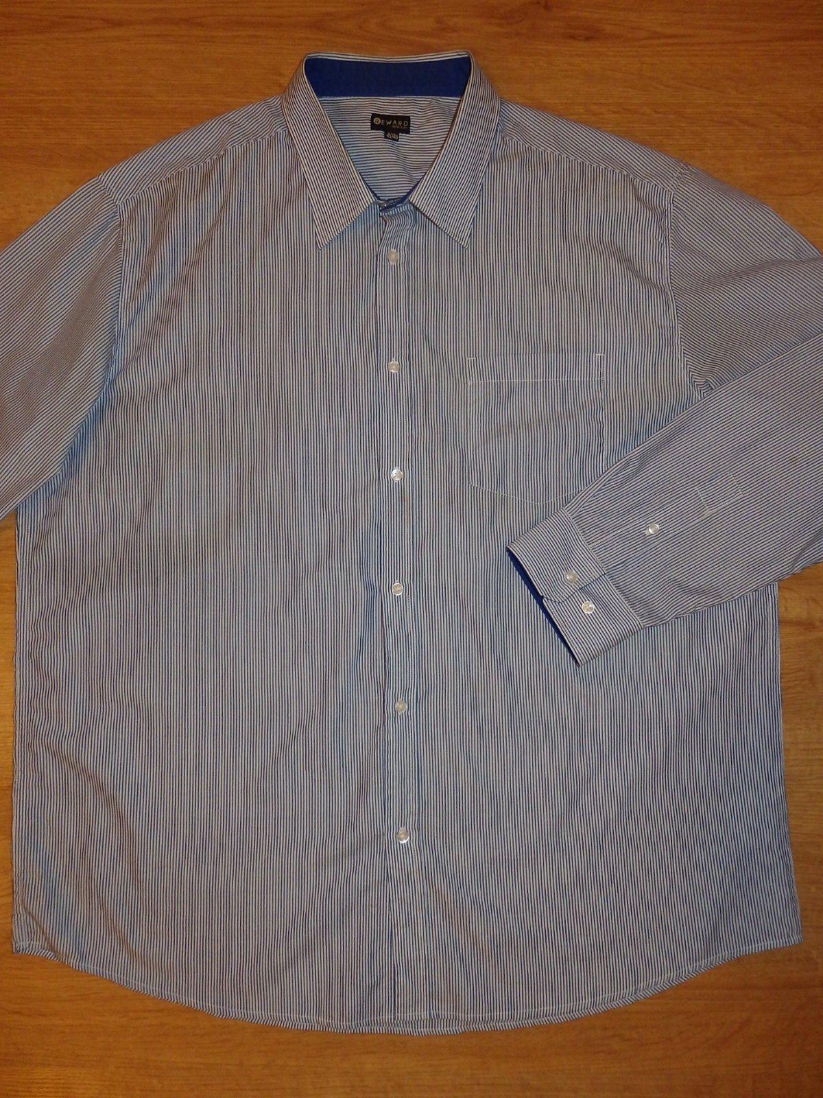 modrá pásiková košeľa - Obrázok č. 1