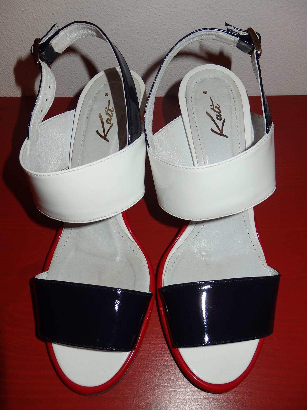 etné lakové sandále - Obrázok č. 3