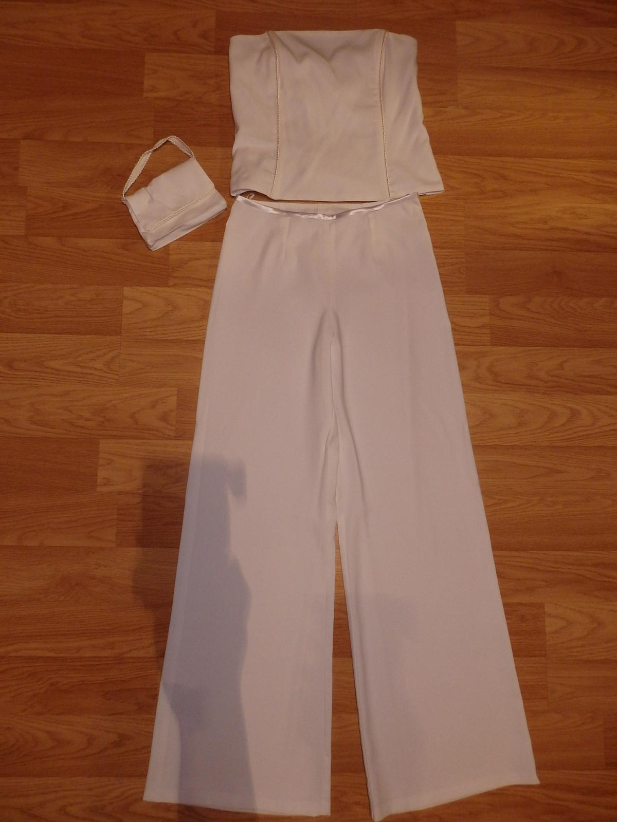 biely nohavicový kostým - Obrázok č. 1