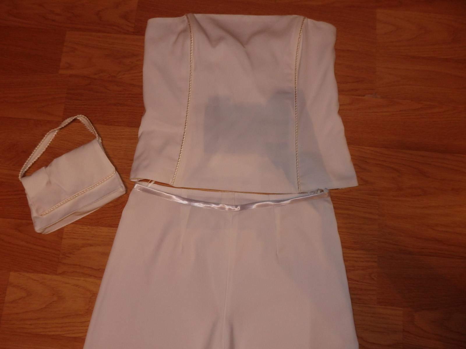 biely nohavicový kostým - Obrázok č. 2