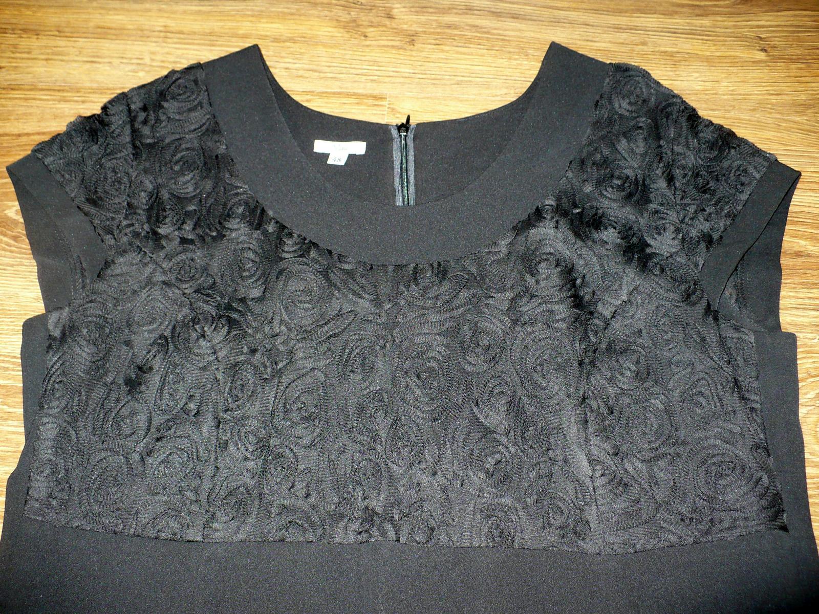 čierne spoločenské šaty - Obrázok č. 2