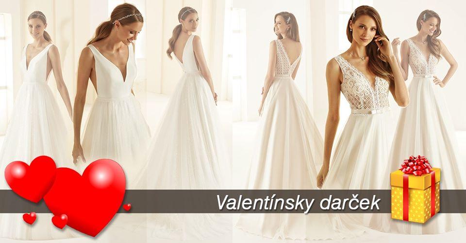 Valentínska akcia - Milé nevestičky , príďte si vybrať z našej širokej ponuky tie pravé šaty pre seba. Ešte do konca mesiaca február máte možnosť získať Valentínsku zľavu 30,-euro a Valentínsky darček.