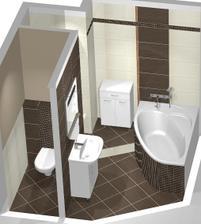 Kúpelňa- návrh,  už sa dokončuje, pridám potom fotky uz z hotovej :-)