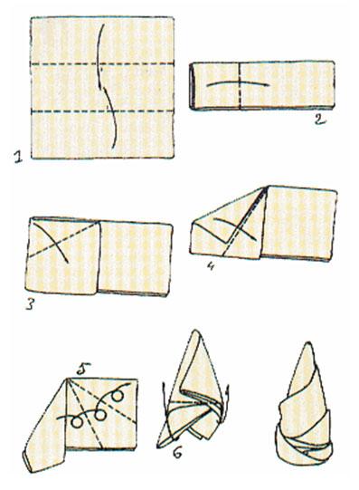 Skladanie servítky - Obrázok č. 9