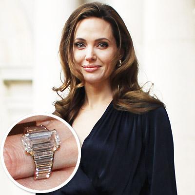 ♣ Celebrity a ich prstienky ♣ - Angelina Jolie