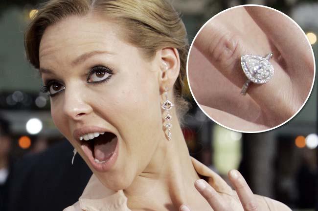 Slavné zásnubní prsteny - Katherine Heigl