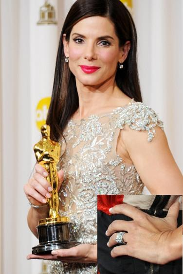 ♣ Celebrity a ich prstienky ♣ - Sandra Bullock