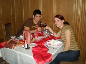 prvá spoločná večera už ako manželia :)
