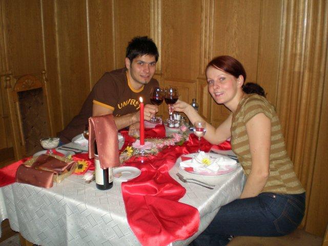 Linda{{_AND_}}Roman - prvá spoločná večera už ako manželia :)