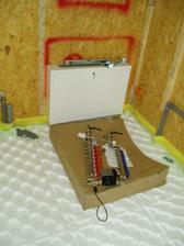 rozdělovač podlahového topení a ventily