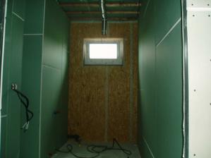 koupelna - pohled na místo pro vanu