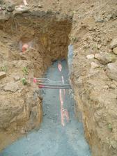 připojení ke kanalizaci hotovo...