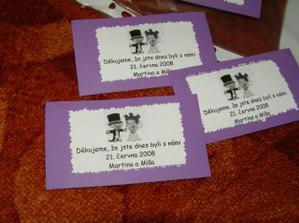 děkovné kartičky k perníčkům