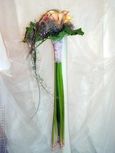 moje svatební kytička (v kombinaci oranžovo-bílá)...původně