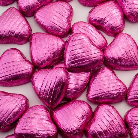 Mliečne čokoládky - srdiečka - 100ks - Obrázok č. 1