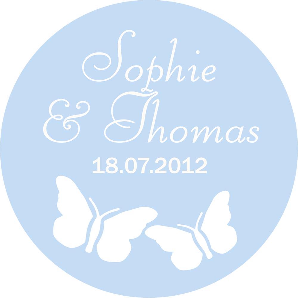Nálepky s menom a dátumom svadby 40ks - Obrázok č. 1