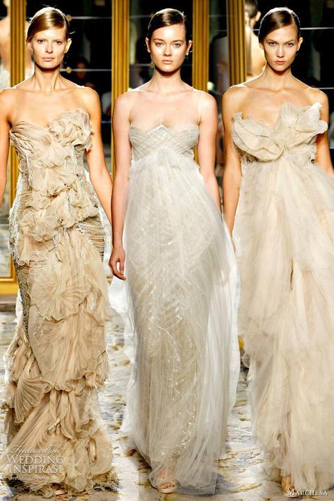 Svadobné šaty - Marchesa SS 2012