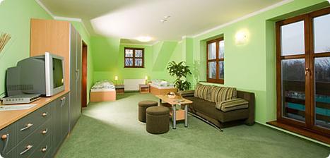 Apartmán - ložnice je v další místnosti