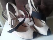 Béžové sandále, 38