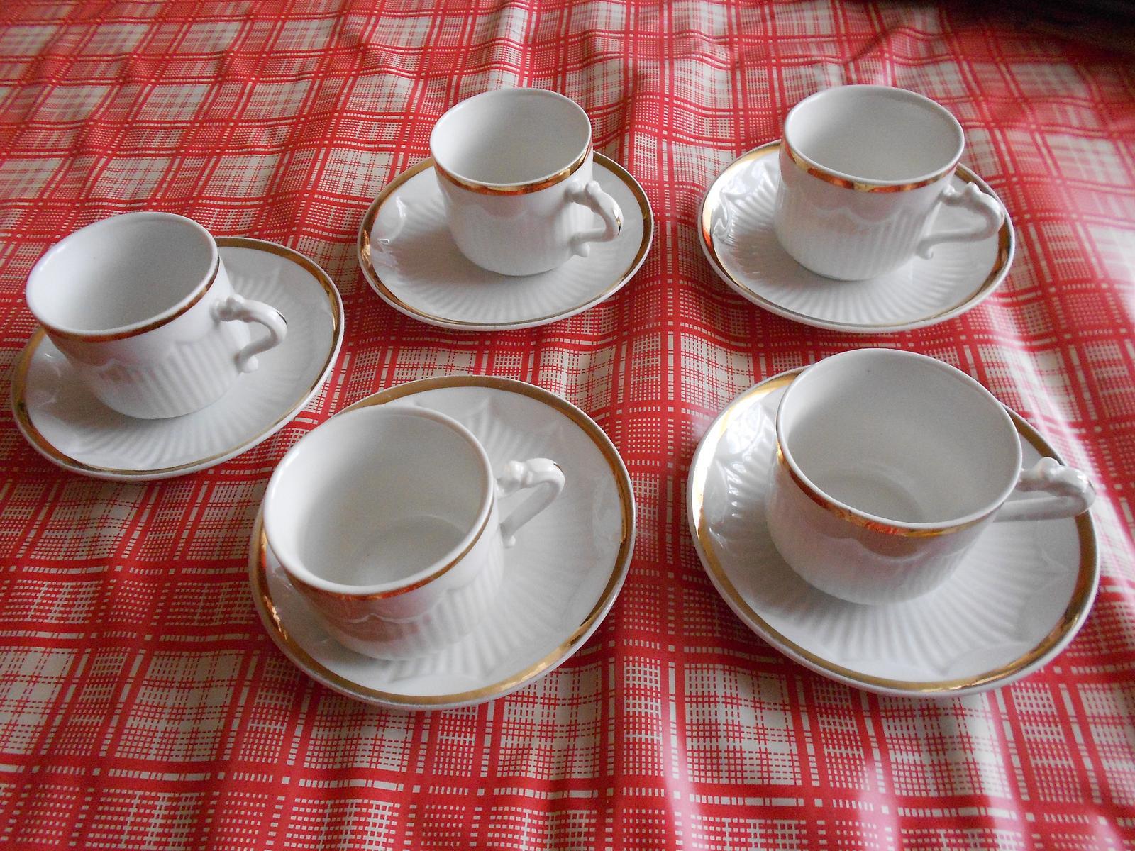 biela kávová súprava  - Obrázok č. 1