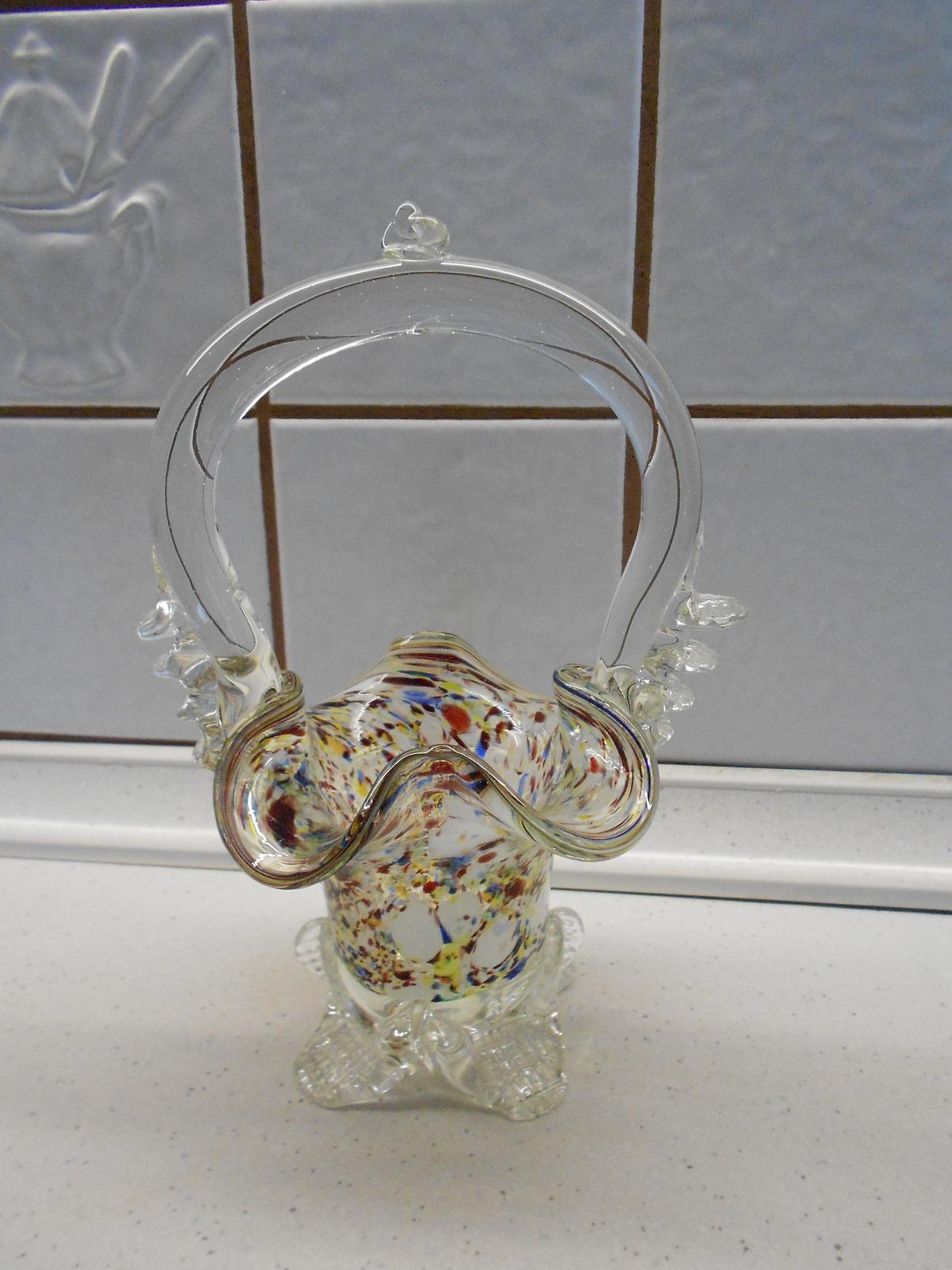 sklenený košík - Obrázok č. 1
