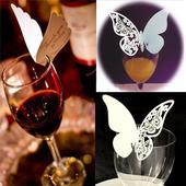 motýlky na sklenice,