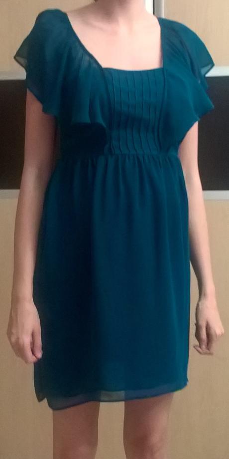 Modré spoločenské šaty č. 34 - 36 - Obrázok č. 1