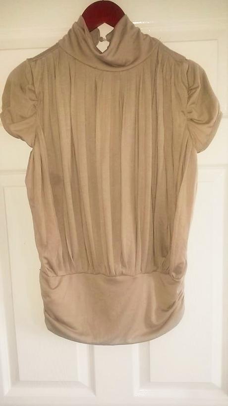 elegantná krémová blúzka / top č. 36 - 38  - Obrázok č. 1