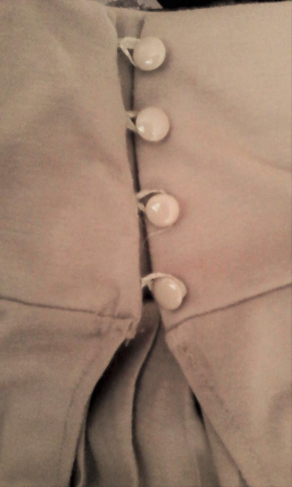 elegantná krémová blúzka / top č. 36 - 38  - Obrázok č. 2