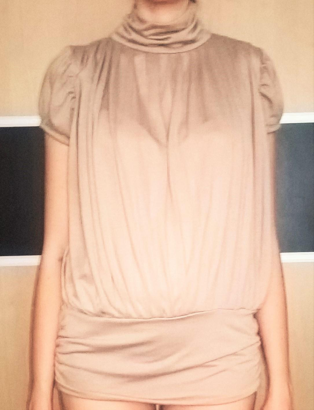 elegantná krémová blúzka / top č. 36 - 38  - Obrázok č. 3