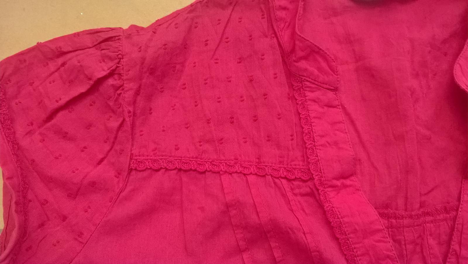 ružová blúzka s čipkou č. 36 - 38 - Obrázok č. 2