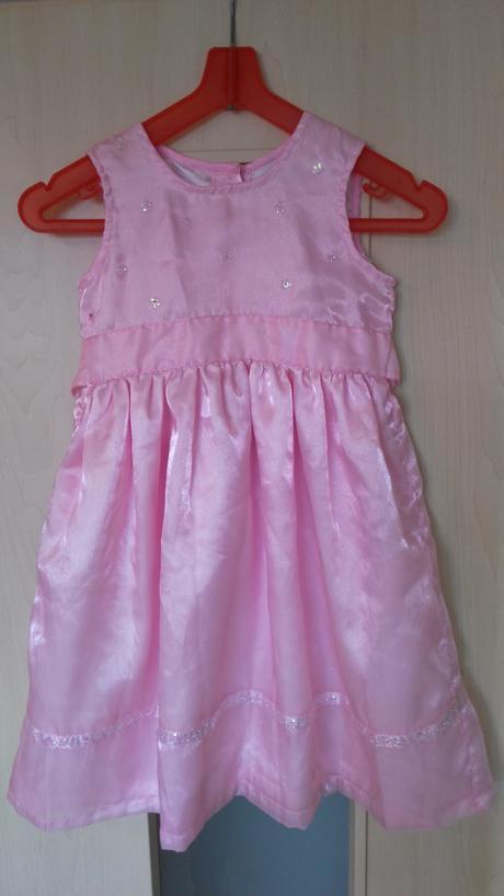 ružové slávnostné šaty na 3-4 roky - Obrázok č. 1
