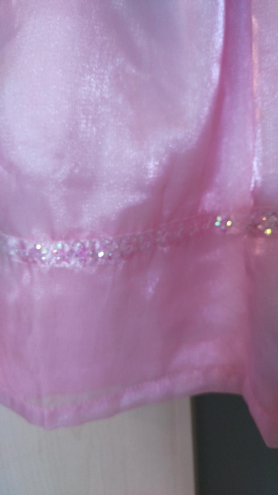 ružové slávnostné šaty na 3-4 roky - Obrázok č. 2