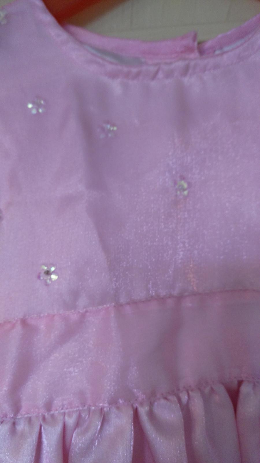 ružové slávnostné šaty na 3-4 roky - Obrázok č. 3