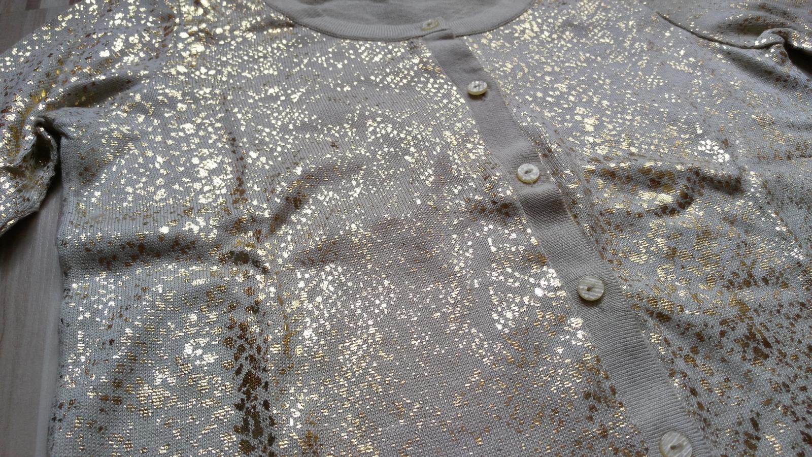 Béžovo-zlatý sveter 38-40 (M-L) - Obrázok č. 2