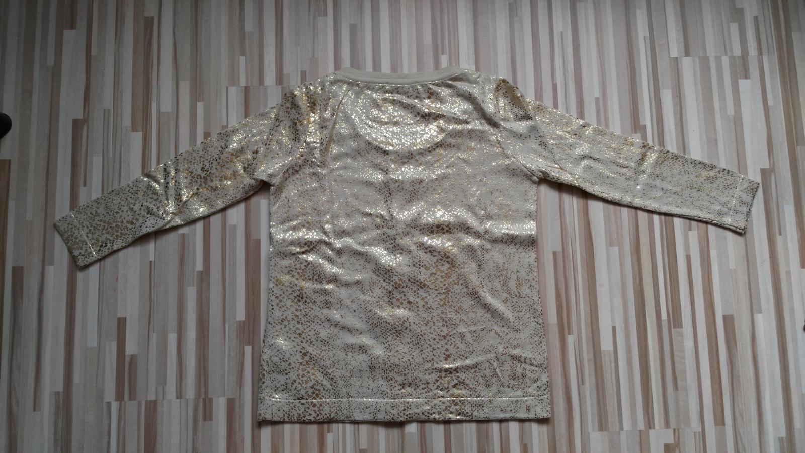 Béžovo-zlatý sveter 38-40 (M-L) - Obrázok č. 3