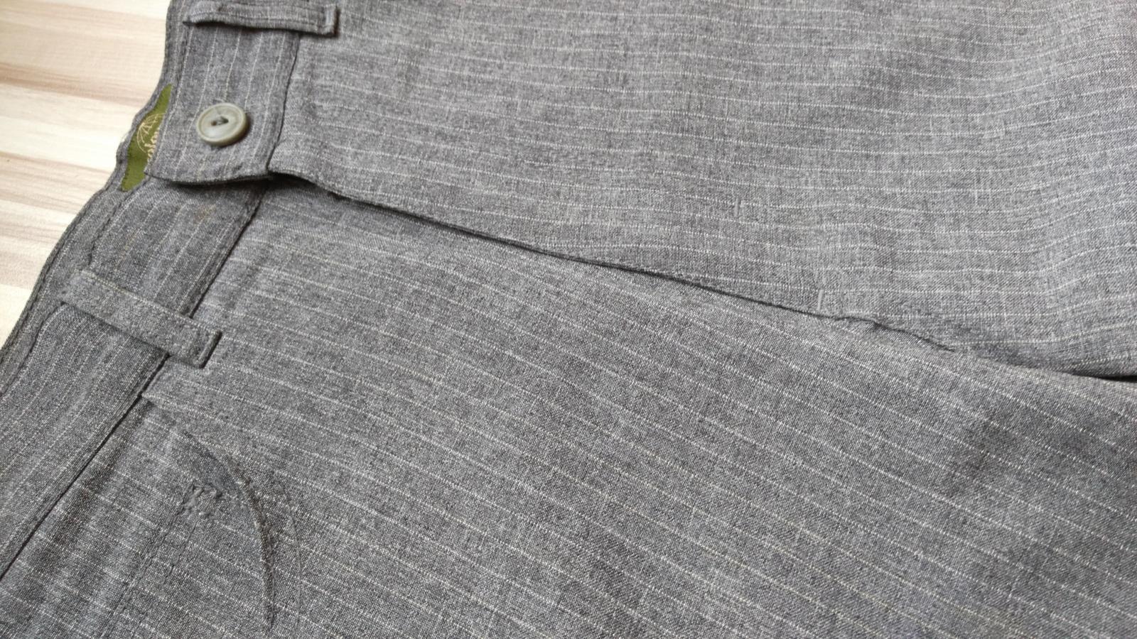 Šedé elegantné nohavice s pásikmi 36/S - Obrázok č. 2