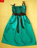 Tyrkysové šaty s čipkou na 4-7 rokov, 116