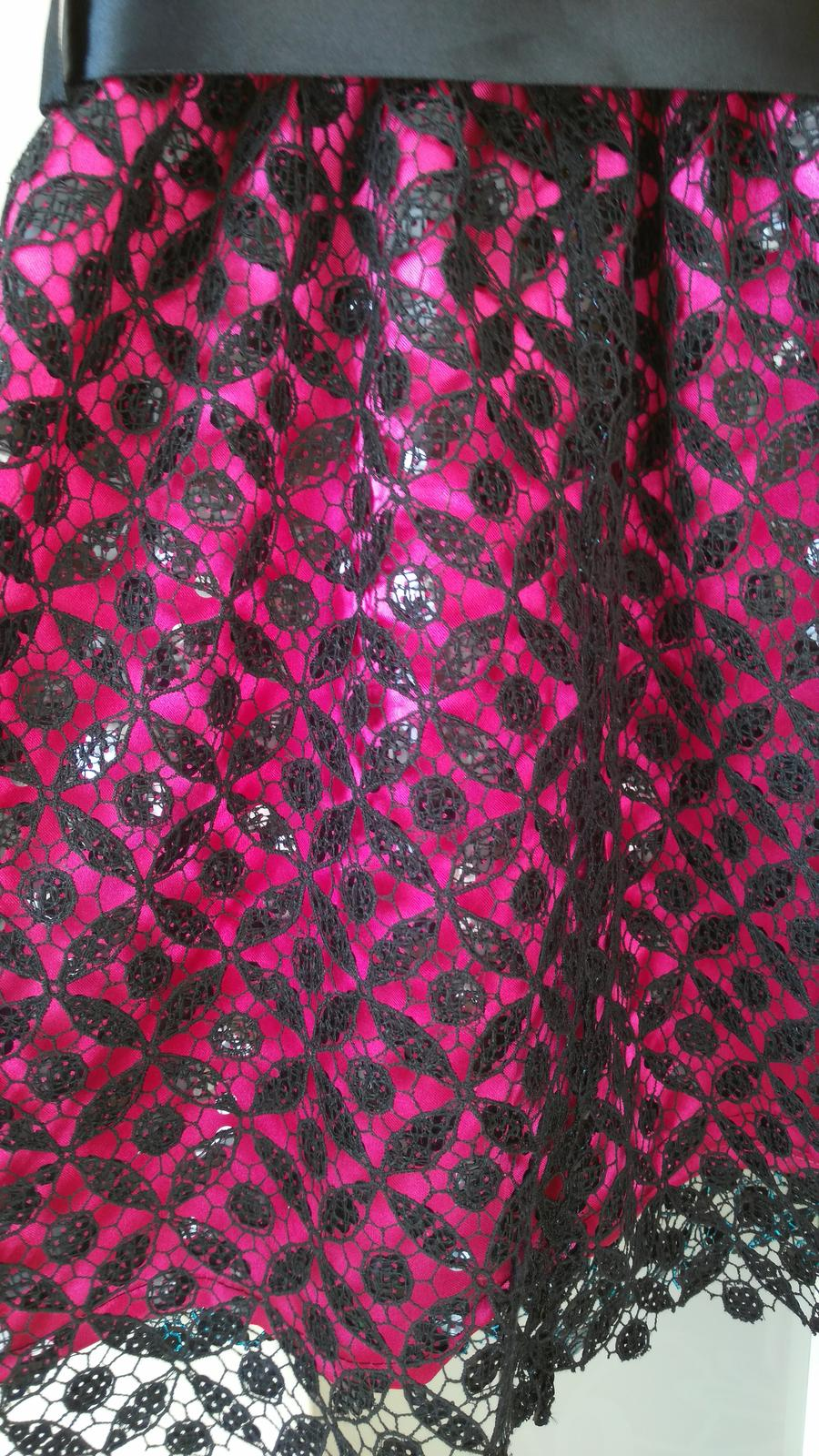 Ružovo-čierne spoločenské šatičky 2-4 roky - Obrázok č. 3