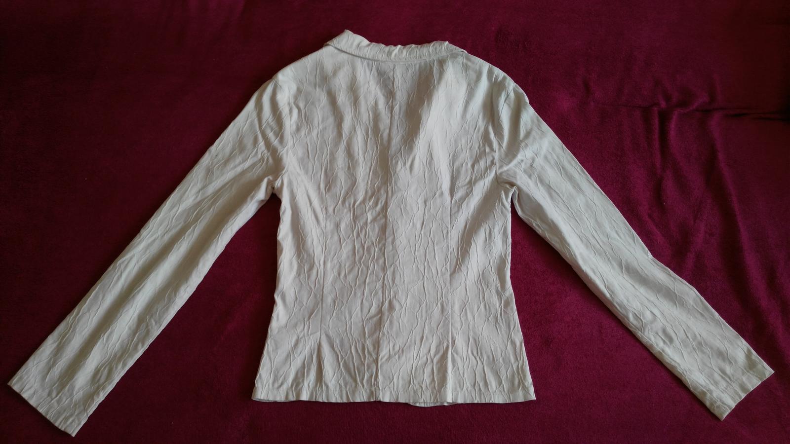 Biele elastické sako 38-40/M-L - Obrázok č. 3