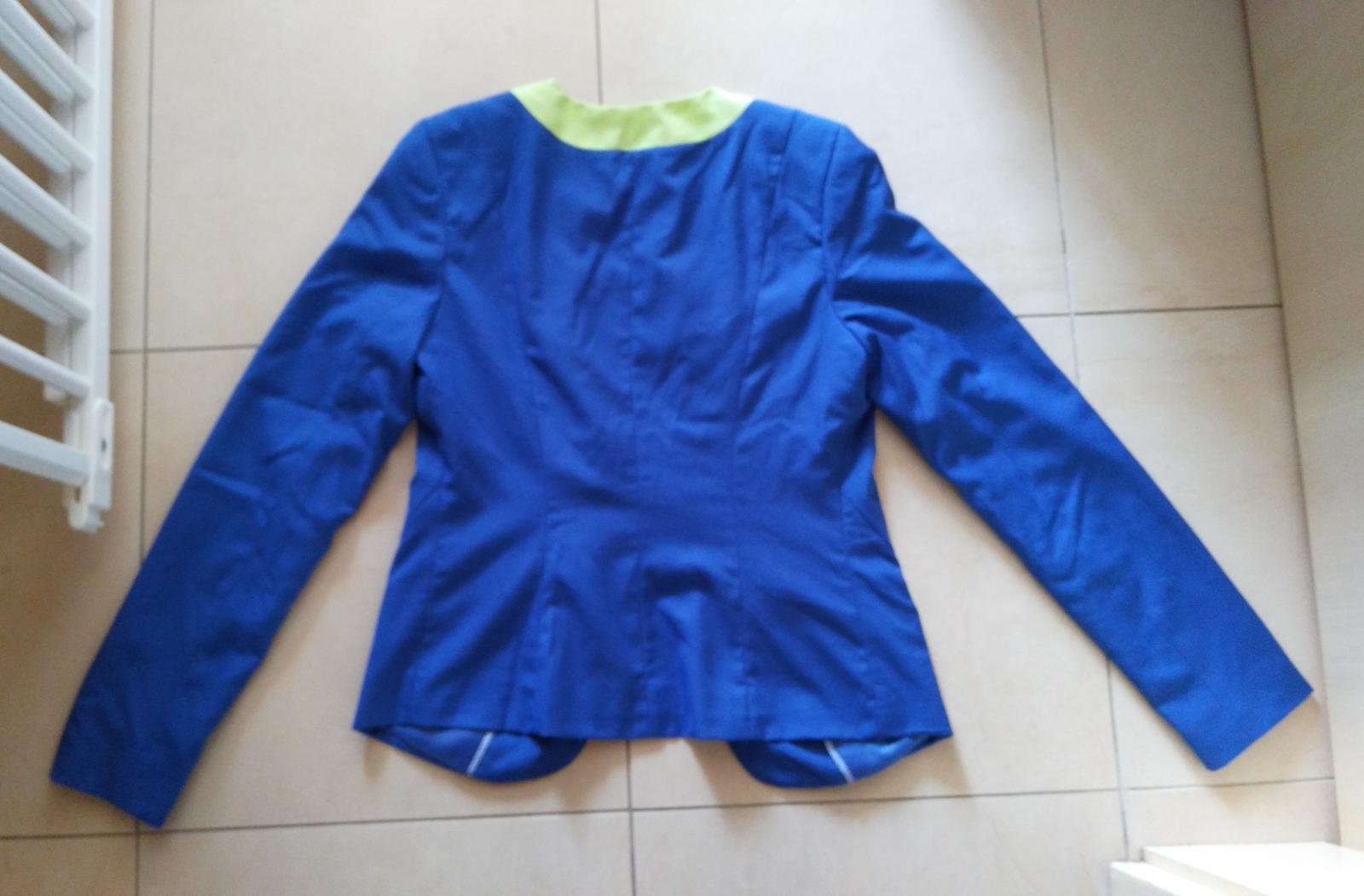 Modré dámske sako 36/S  - Obrázok č. 3