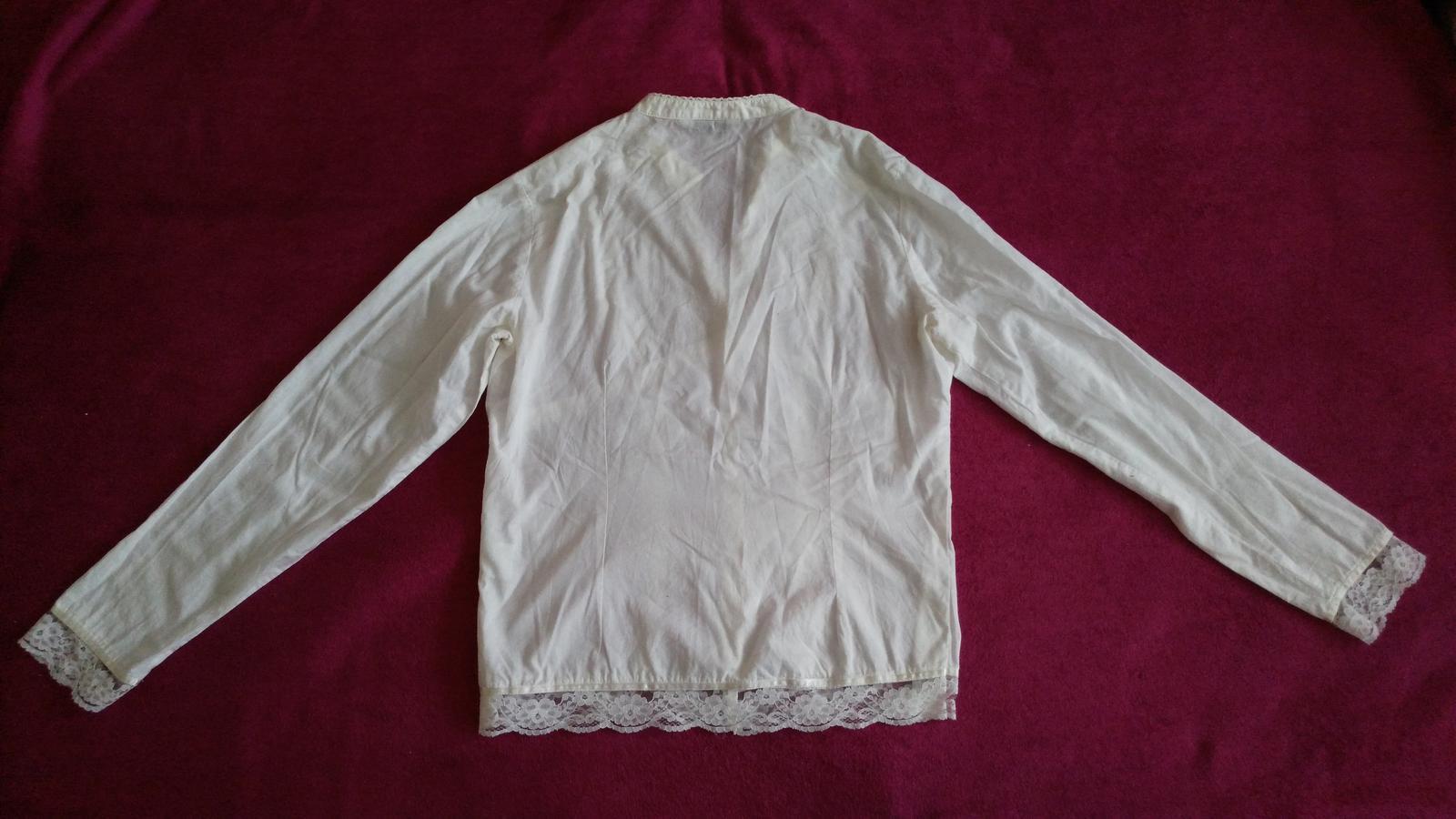 Biela blúzka s čipkou 40/L - Obrázok č. 3