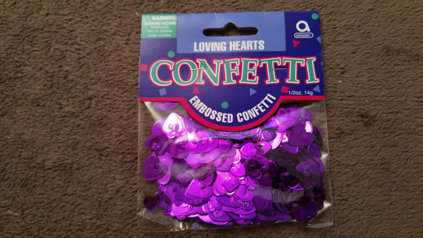 konfety - fialové srdiečka - Obrázok č. 1