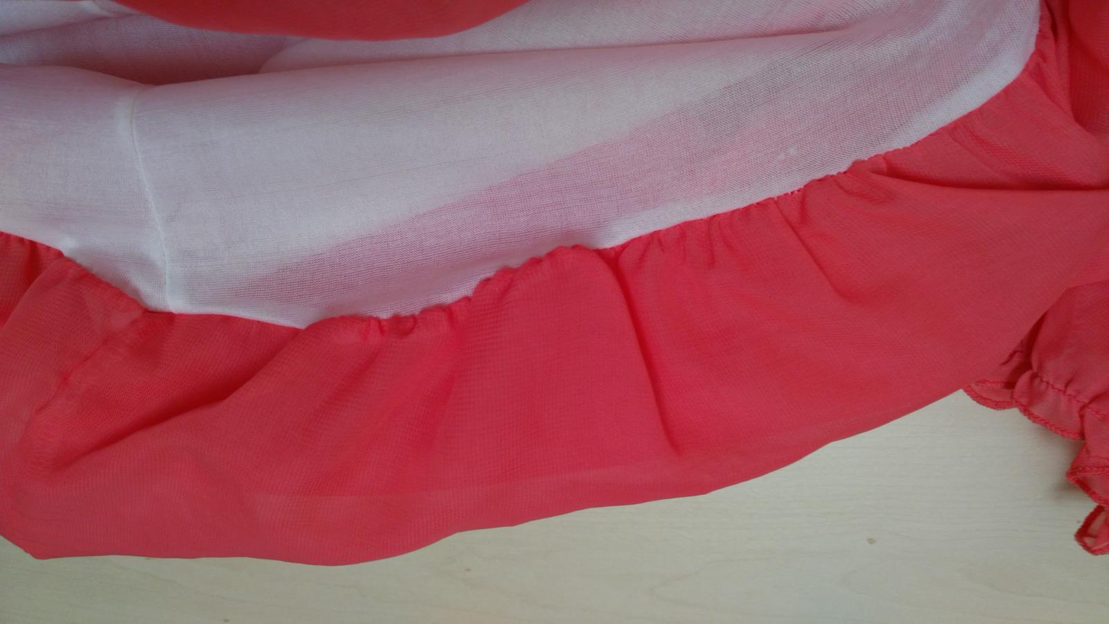 Lososové šifónové šaty 36-38 (S-M) - Obrázok č. 3