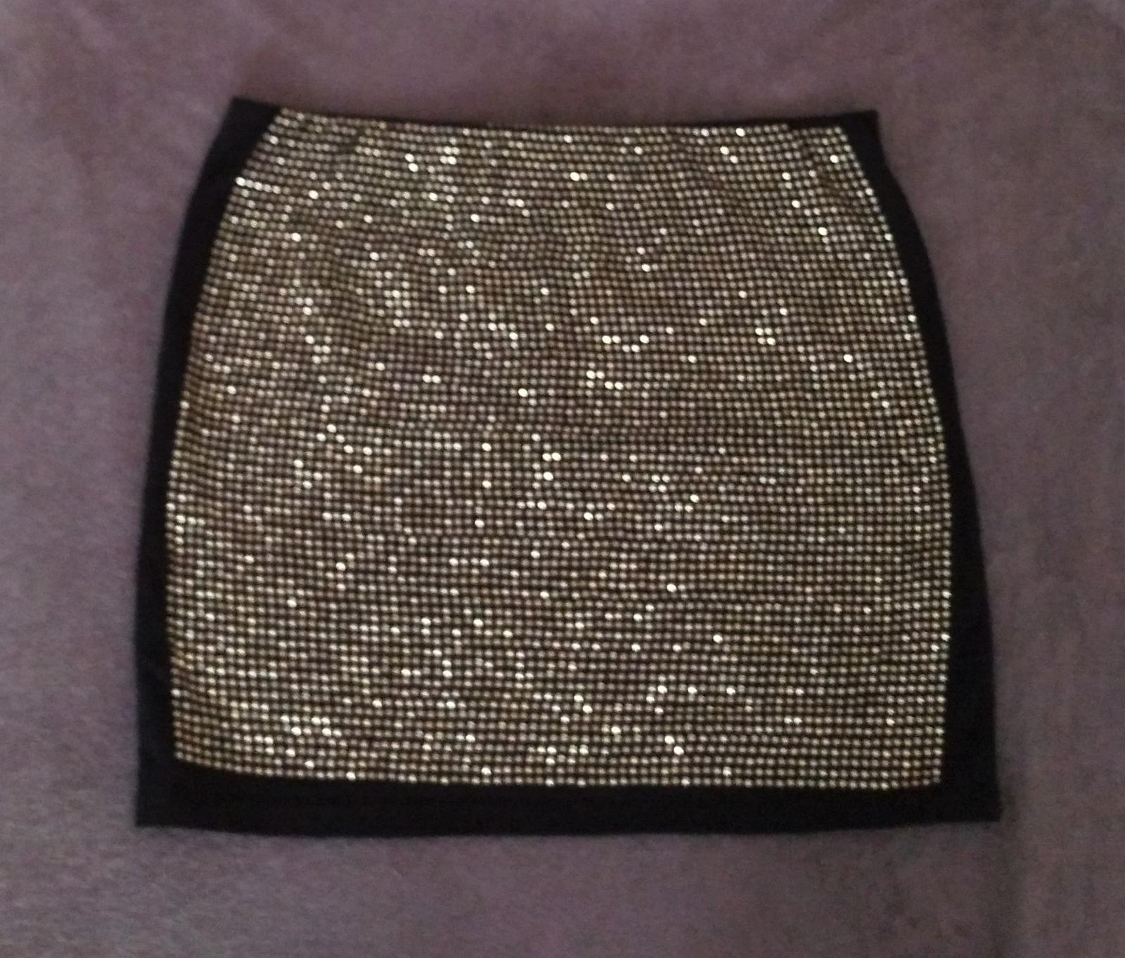 Čierno-zlatá sukňa s kamienkami 36/S - Obrázok č. 1