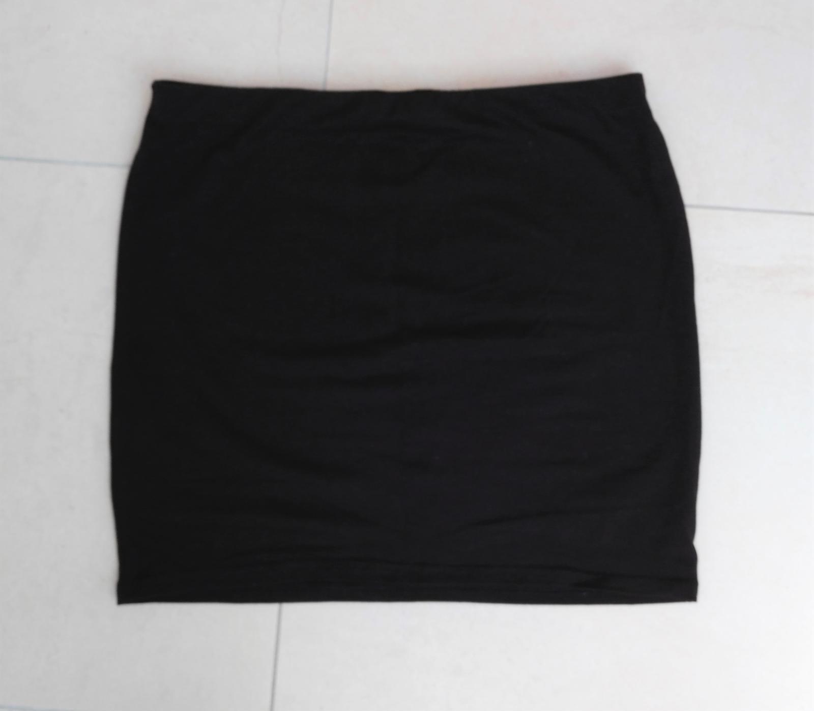 Čierno-zlatá sukňa s kamienkami 36/S - Obrázok č. 4
