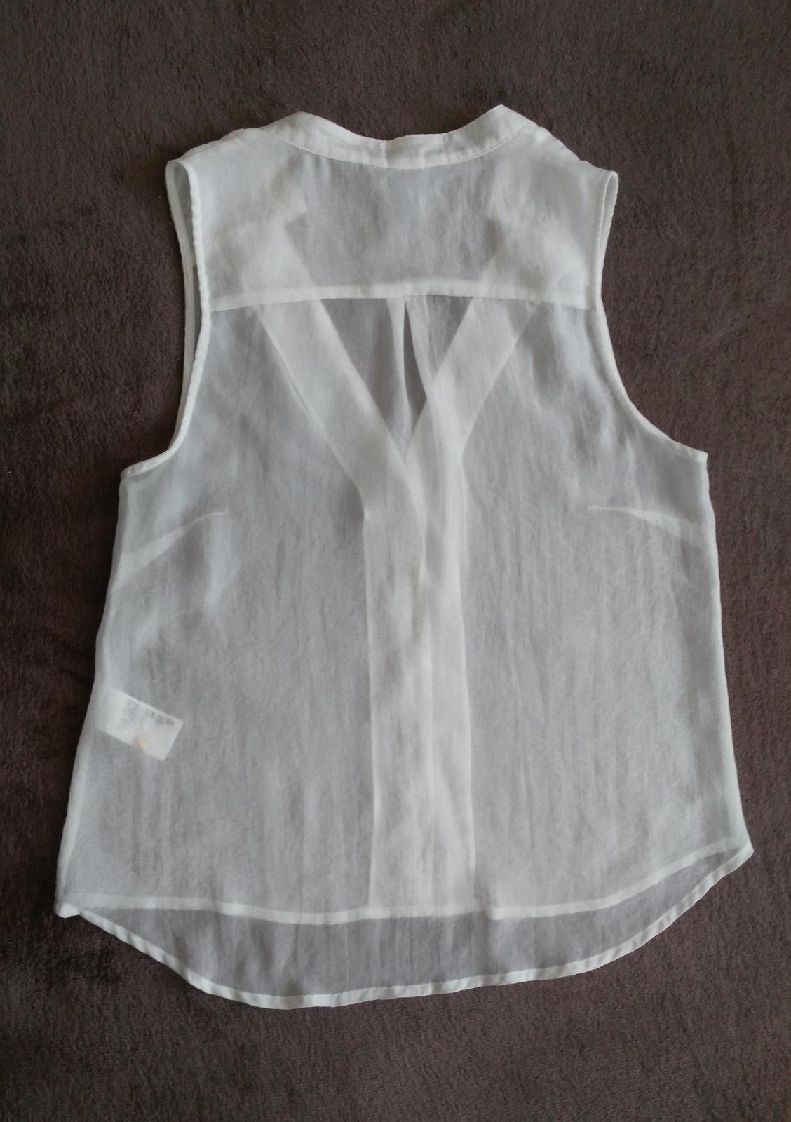 Biela priesvitná blúzka 38/M - Obrázok č. 2