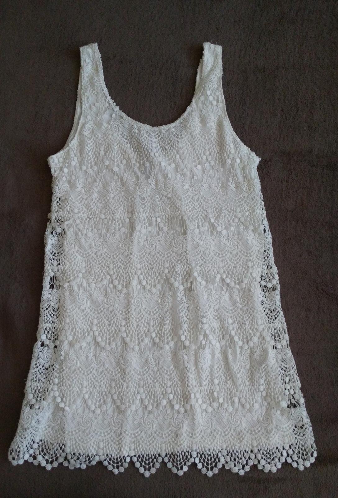 Biele čipkované šaty 40 (L) - Obrázok č. 1