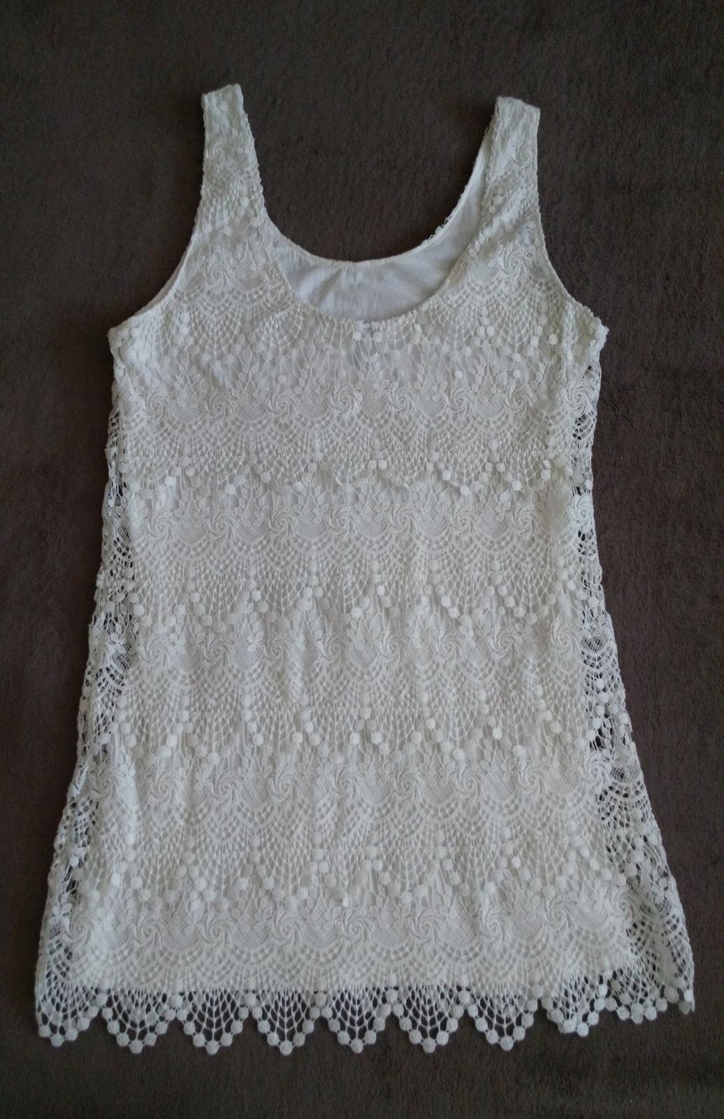 Biele čipkované šaty 40 (L) - Obrázok č. 2