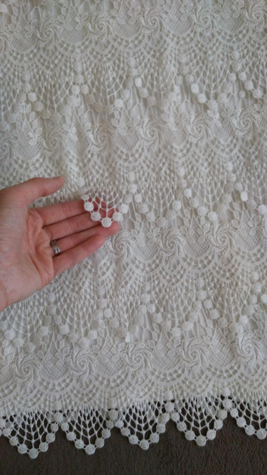 Biele čipkované šaty 40 (L) - Obrázok č. 3